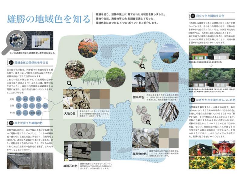 石巻市雄勝町復興公営住宅の色彩計画その1